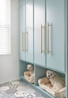 Benjamin Moore Gossamer Blue in this gorgeous laundry room. Soda Pop Design Inc. Turquoise Laundry Rooms, Blue Laundry Rooms, Laundry Room Cabinets, Laundry Room Organization, Laundry Room Design, Diy Cabinets, Blue Cabinets, Storage In Laundry Room, Kitchen Storage