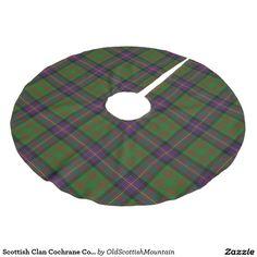 Scottish Clan Cochrane Cochran Tartan Brushed Polyester Tree Skirt