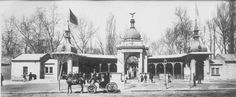 Budapest 1895 - The Old Zoo Entrance Travel Around The World, Around The Worlds, Heart Of Europe, Budapest Hungary, Vintage Images, Tao, Old Photos, Entrance, The Past