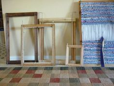 Upcycled rag rug looms, So cool! LOVE that they show you ho to do it on your own!! http://meylah.com/NowThatsCrafty/rag-rug-weaving-loom-not-assembled