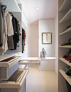 Queen Chrissanto: Decoração: Idéias para closet tabua de passar dentro / embutida do armário do quarto