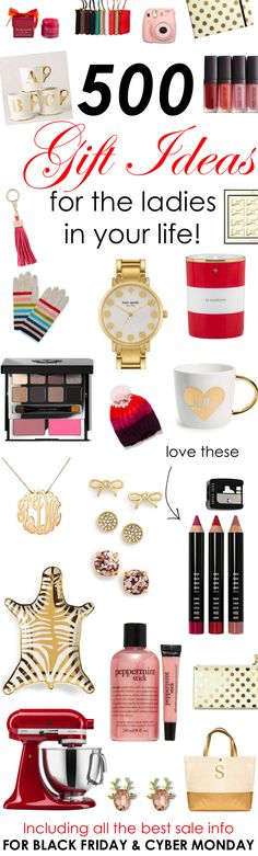 500 Gift Ideas for the Ladies in Your Life! http://www.theperfectpalette.com/2015/11/500-gift-ideas-for-ladies-in-your-life.html