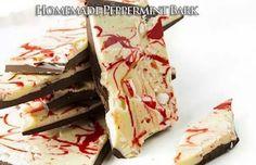 homemade peppermint bark for Vanessa