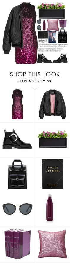 """""""Whichever clever face a man does, opening his mouth and telling his thoughts becomes clear whether he really is an educated or it's a bluff mask!"""" by holly-k15 ❤ liked on Polyvore featuring French Connection, H&M, Maison Margiela, Campania International, Dr. Martens, kikki.K, Prada and S'well"""