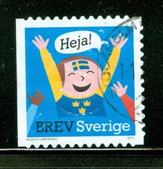 NORSE CONTENT! Swedish Postage Stamp....