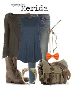 """Merida"" by charlizard ❤ liked on Polyvore featuring rag & bone, DRKSHDW, Topshop, Madden Girl, Pamela Love, disney, brave and dystopia"