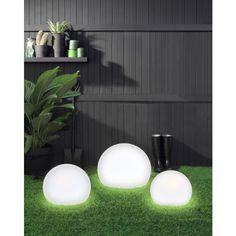Fresh 12V 400mm 3/4 Spherical Garden Light In White Polycarb