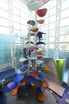 Detail of the climbing Gym of the Gyeonggi Children's Museum, South Korea designed by Luckey ♥ by #GalerieW 2014