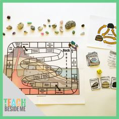 4th Grade Science, Middle School Science, Different Types Of Rocks, Rock Games, Online Book Club, Printable Board Games, Rock Cycle, Science Notebooks, Simple Machines