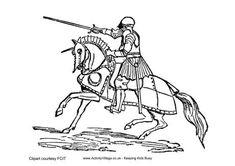 Tudor knight colouring page oktouse