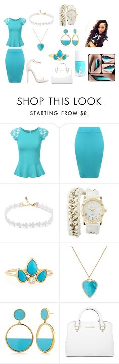 """""""Untitled #6"""" by jenadieu ❤ liked on Polyvore featuring WearAll, Charlotte Russe, ZoÃ« Chicco, Jennifer Meyer Jewelry, Kate Spade and Michael Kors"""