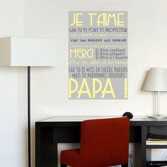 Adhesive poster for dad's. Perfect present for father's day. Poster 40x60cm . Personnalize your own poster, choose your words and colors. Available in English, french and Spanish