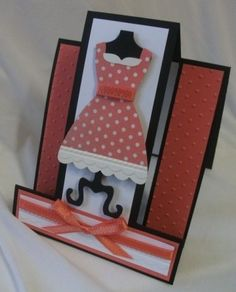 Calypso Coral dress - stepper card