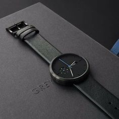 Looking to buy a watch? Treat yourself to the Essential by @greyhours, which features a matte-black dial and contrasting blue hands. Follow @Dezeenstore for updates on the latest designer watches and order your Essential at dezeenwatchstore.com/shop/all/essential #design #watch