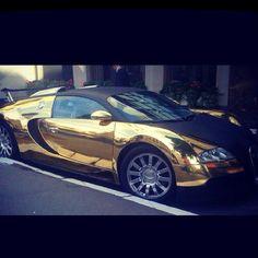 Gold Bugatti