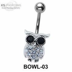Owl Collection Piercing. #bellypiercing #bodyjewelry #piercing