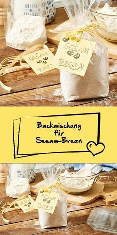 backmischung f r sesam brezn zum verschenken rezept geschenke aus der k che pinterest. Black Bedroom Furniture Sets. Home Design Ideas