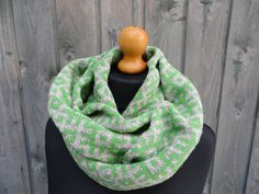 Soft warm scarf with Latvian writings both by DacesKnittingWorld