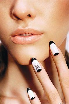 Monogrammed fake fingernail:  she clearly doesn't do a school run yet . . . Nails Inc, Toe Nails, Nail Art 2015, Monogram Nails, Nail Art Photos, Best Gifts For Him, Nail Shop, Nail Art Galleries, Nails Magazine