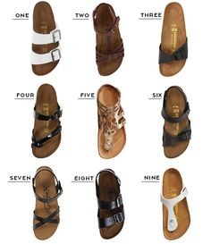 A round-up of nine Birkenstock sandals to wear on your next trip.