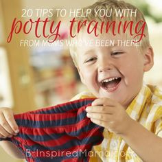 20 Tips for How to Potty Train - From Moms Who've Been There at B-Inspired Mama