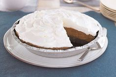 Why serve a single-layer chocolate pie when it's just as easy—and three times as delicious—to go with a Triple-Layer Chocolate Pie?