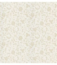 Bed Breakfast Taupe Jacobean Stencil Wallpaper
