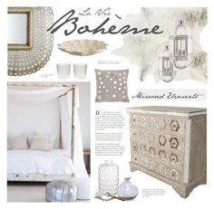 """Boho Chic Bedroom"" by bellamarie ❤ liked on Polyvore featuring interior, interiors, interior design, home, home decor, interior decorating, DwellStudio, French Connection, Pottery Barn and Culinary Concepts"