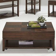 "Progressive Furniture Daytona Coffee (Brown) Table with Double Lift-Top P531-25  W 50.5"" / D 32.5"" / H 11"""