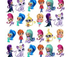 36 x PERCUT SHIMMER & SHINE  edible birthday stand up cake scene cupcake toppers rice wafer card