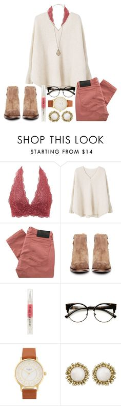 """ do you hear what I hear? "" by hey-faith ❤ liked on Polyvore featuring Charlotte Russe, MANGO, Religion Clothing, H by Hudson, Stila, ZeroUV, Kate Spade and Kendra Scott"