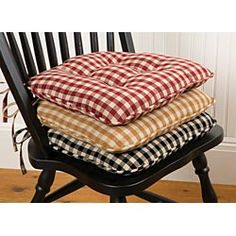 maybe a diy seat cushion project for the wooden dining table chairs diff fabric - Kitchen Table Cushions