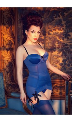 Corset ELENA bleu électrique - OUTLET - Ref: 649369 | Fruit Rouge