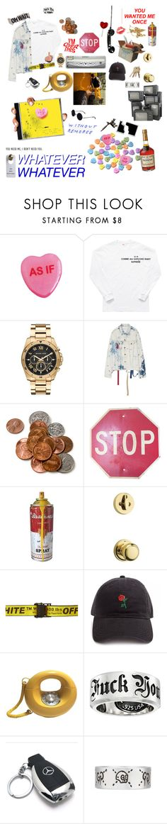 """the break-up / mgk"" by guitarlife ❤ liked on Polyvore featuring Comme des Garçons SHIRT, Michael Kors, Beta Fashion, Bellamie, Weiser, Off-White, Forever 21, King Baby Studio, Mercedes-Benz and Gucci"