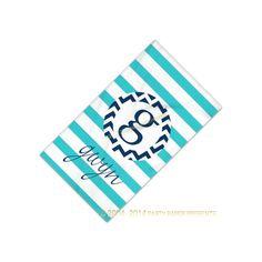 Chevron Initial Monogram Beach Towel by PartyPaperPresents