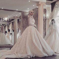 >> Click to Buy << Muslim Wedding Dress Long Sleeves Bridal Dresses With Hijab Luxury Wedding Dress Vestido De Noiva Bead Crystal Birdal Gown 2016 #Affiliate