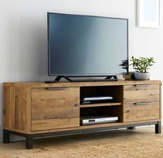 Buy Bronx Wide TV Unit from the Next UK online shop unit Metal TV Units Small Living Room Decor, Living Room Cabinets, Wooden Tv Cabinet, Living Room Diy, Living Room Tv Stand, Living Room Wall Units, Living Room Decor Cozy, Wooden Tv Unit, Living Room Tv