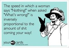 The speed in which a woman says...