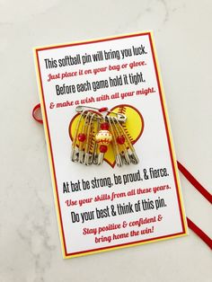 Softball Gift with Printable Poem - DIY Inspired Softball Gift with Printable Poem - DIY Inspired<br> Softball Gift with Printable Poem - Give This Magic Pin as a Team Softball Gift with FREE Printable Poem - video tutorial for friendship pins. Softball Workouts, Softball Memes, Senior Softball, Softball Uniforms, Softball Party, Softball Problems, Softball Cheers, Softball Crafts, Softball Pitching