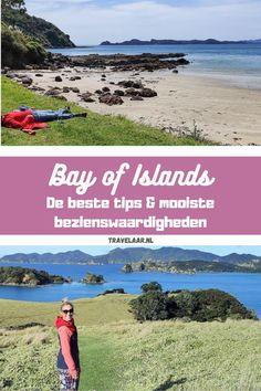 Relatief veel mensen slaan de Bay of Islands over tijdens hun roadtrip door Nieuw Zeeland en trekken vanuit Auckland direct naar het zuiden. Wat mij betreft hartstikke zonde, want het is hier goed vertoeven! In dit artikel lees je zes goede redenen, inclusief jaloersmakende foto's, om de Bay of Islands niet over te slaan. Niet voor niets wordt deze heerlijke plek ook wel het paradijs van Nieuw Zeeland genoemd. New Zealand Travel, Backpacker, Auckland, Travel Tips, Backpacking, Travel Advice, Backpack