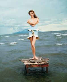 """Karlie Kloss in """"A Delicate Balance"""" by Ryan McGinley for T Style Travel Winter 2012"""
