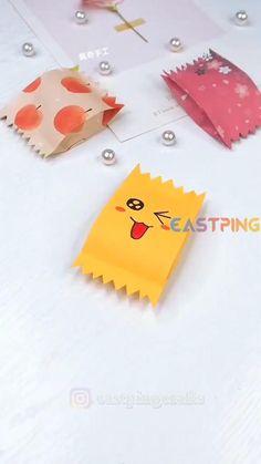 Cool Paper Crafts, Paper Crafts Origami, Fun Crafts, Kawaii Crafts, Diy Crafts Hacks, Diy Crafts For Gifts, Creative Crafts, Instruções Origami, Oragami