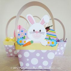 Free Kids Easter paper crafts | 21 Crafty Ways to Make an Easter Basket | AllFreeHolidayCrafts.com