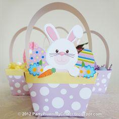 Free Kids Easter paper crafts | 21 Crafty Ways to Make an Easter Basket | AllFreeHolidayCrafts.com