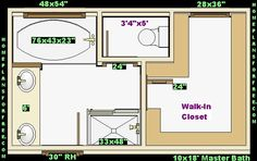 Best Free Master Bath Floor Plan With 12X15 Dimensionsmaster 640 x 480