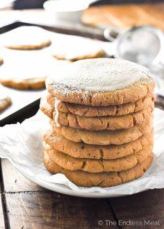 Crispy Pumpkin Sugar Cookies with Ginger Maple Glaze | theendlessmeal.com