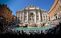 Trevi Fountain--toss a coin in--then you will return to Rome again!