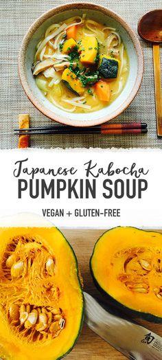 Japanese Kabocha Pumpkin Soup - Vegan / Gluten-free / Healthy