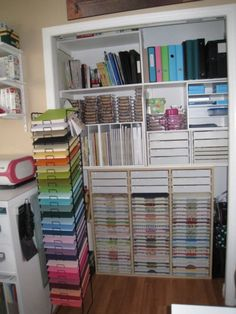 How To Decorate A 10x10 Space {Lauren Brekelmans} ~ extra shelving idea for craft closet