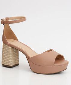 Sapato Mississipi Salto Baixo Tira Boneca Nude | Mississipi